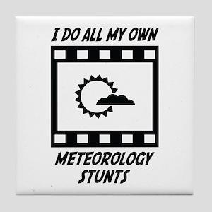 Meteorology Stunts Tile Coaster