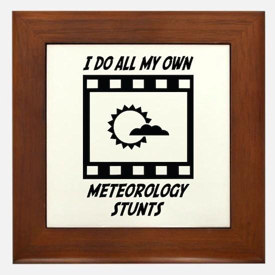 Meteorology Stunts Framed Tile