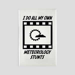 Meteorology Stunts Rectangle Magnet