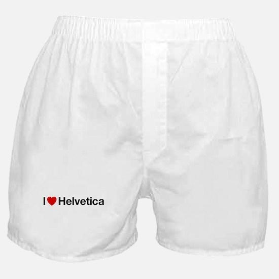 i heart helvetica Boxer Shorts