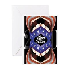 'Happy Birthday 2 U' Greeting Card (FlagMouth)