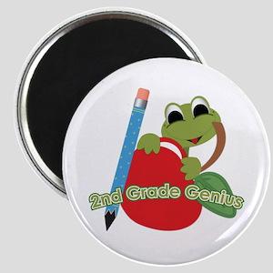 2nd Grade Genius Frog Magnet