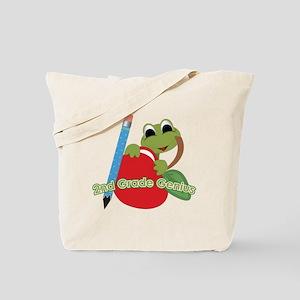2nd Grade Genius Frog Tote Bag