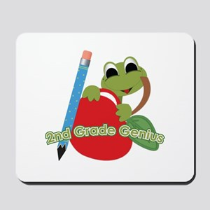 2nd Grade Genius Frog Mousepad