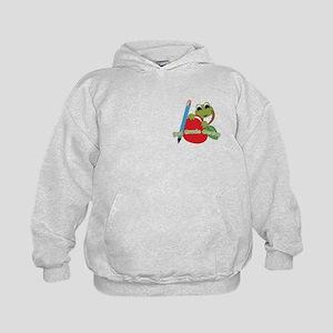 2nd Grade Genius Frog Kids Hoodie