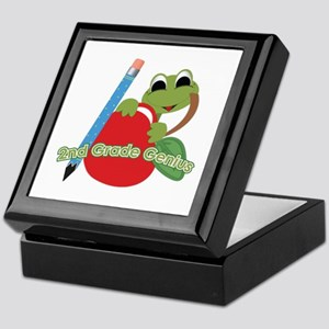 2nd Grade Genius Frog Keepsake Box