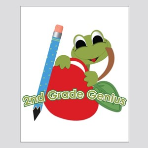 2nd Grade Genius Frog Small Poster