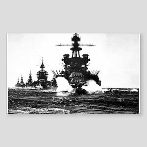 BATTLESHIP USS PENNSYLVANIA Rectangle Sticker