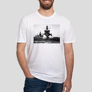 BATTLESHIP USS PENNSYLVANIA Fitted T-Shirt