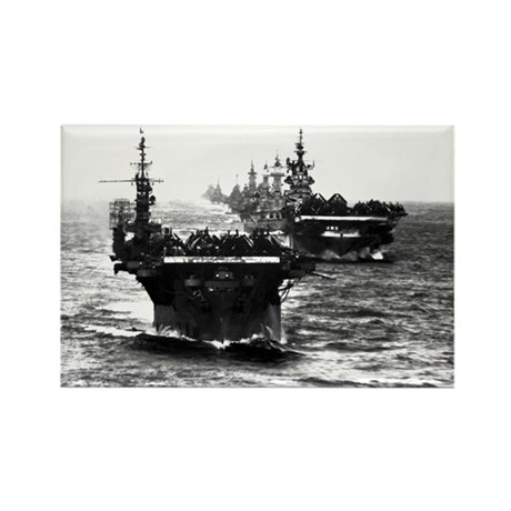 WWII AIRCRAFT CARRIERS Rectangle Magnet