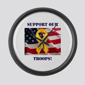Support Our Troops! Large Wall Clock