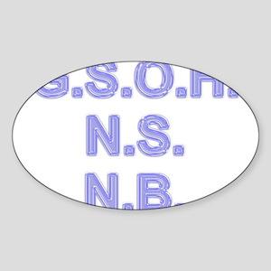 Stationery - GSOH Oval Sticker