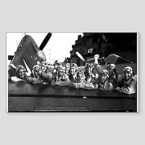 F6F HELLCAT PILOTS Rectangle Sticker