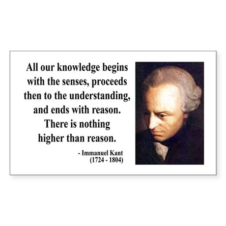 Immanuel Kant 2 Rectangle Sticker