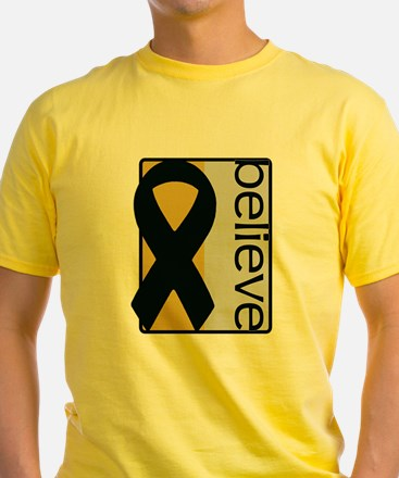 Gold and Silver (Believe) Ribbon T