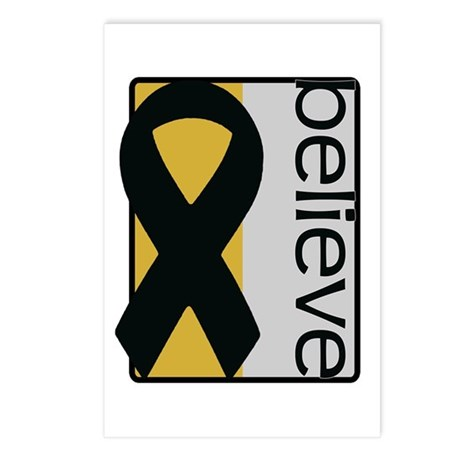 Gold and Silver (Believe) Ribbon Postcards (Packag
