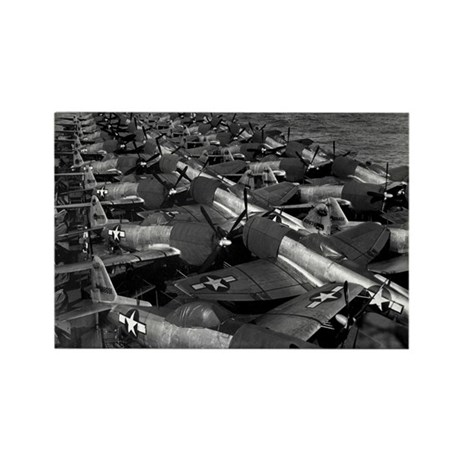 P-47 Thunderbolt Fighters Rectangle Magnet (10 pac
