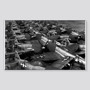 P-47 Thunderbolt Fighters Rectangle Sticker