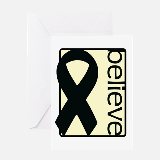 Cream (Believe) Ribbon Greeting Card
