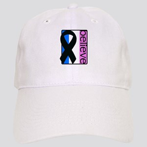 Blue White Pink (Believe) Ribbon Cap