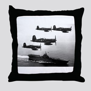 F4U-4 Corsiars Fighters Throw Pillow