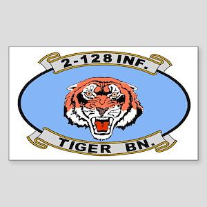 2-128th Infantry <BR>Tiger Sticker