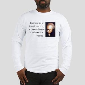 Immanuel Kant 3 Long Sleeve T-Shirt