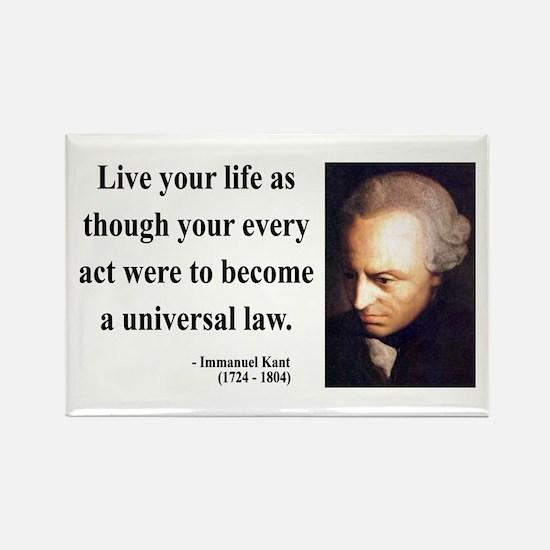 Immanuel Kant 3 Rectangle Magnet