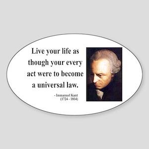 Immanuel Kant 3 Oval Sticker