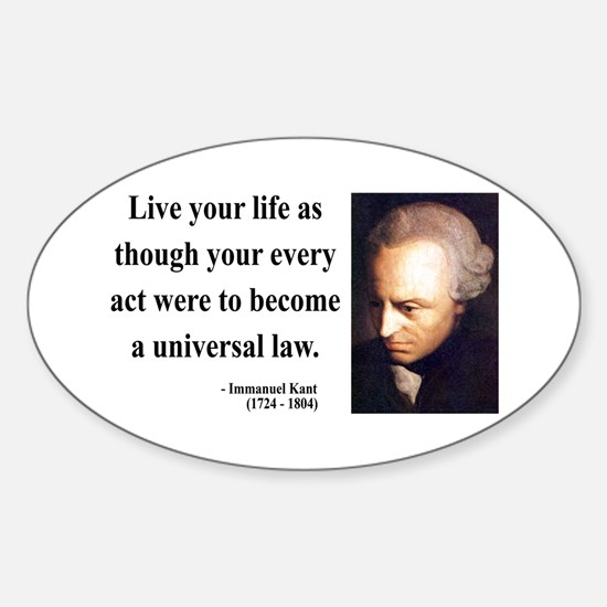 Immanuel Kant 3 Oval Decal