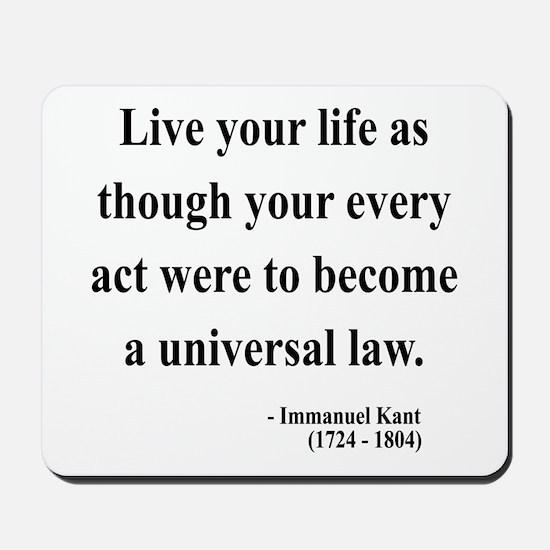 Immanuel Kant 3 Mousepad