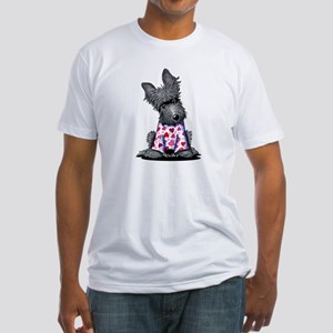 PJs Scottie Terrier Fitted T-Shirt
