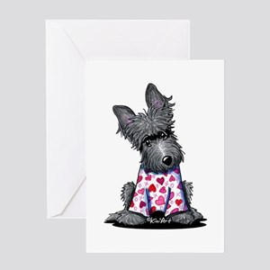PJs Scottie Terrier Greeting Card