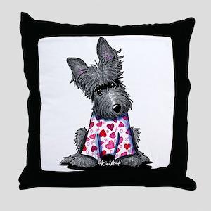 PJs Scottie Terrier Throw Pillow