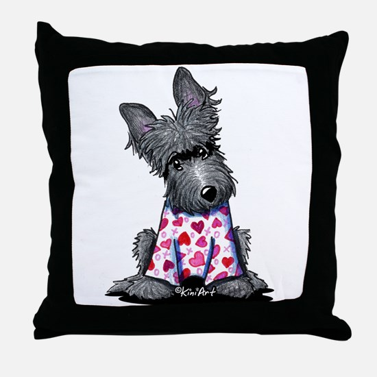 PJs Scottie Terrier Throw Pillow