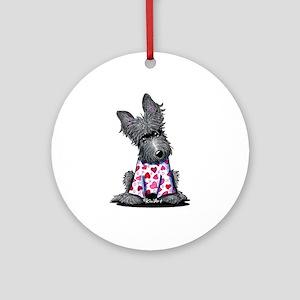 PJs Scottie Terrier Ornament (Round)