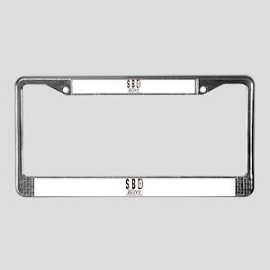 SBD silent butt deadly License Plate Frame