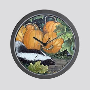 Trick or Treat Skunk Mouse Wall Clock