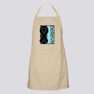 Black and Light Blue Ribbon - Loss of a Son Apron