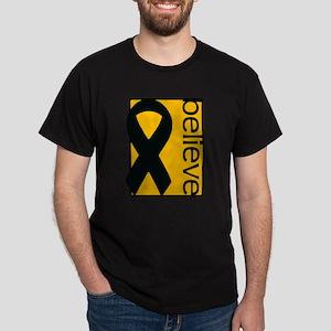Amber ribbon - appendix cancer Dark T-Shirt
