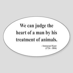 Immanuel Kant 4 Oval Sticker