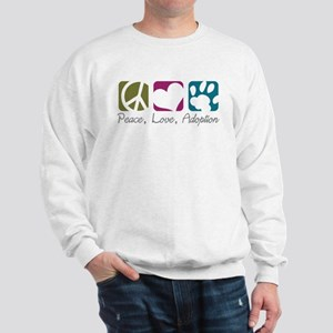 Peace, Love, Adoption Sweatshirt