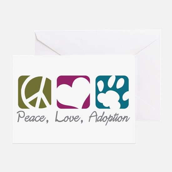 Peace, Love, Adoption Greeting Card