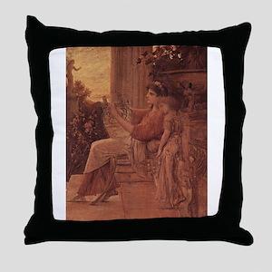 Klimt's Sappho Throw Pillow