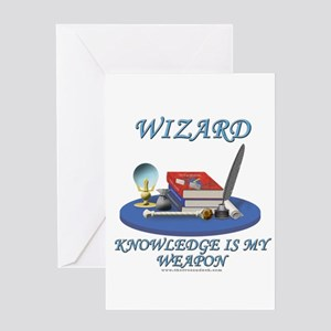 Knowledge Is My Weapon Greeting Card