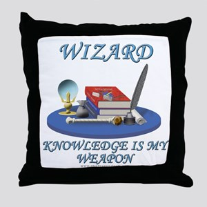 Knowledge Is My Weapon Throw Pillow