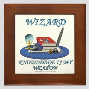 Knowledge Is My Weapon Framed Tile