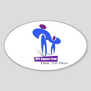 DPS Support Staff Oval Sticker