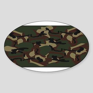 Camo Oval Sticker (10 pk)