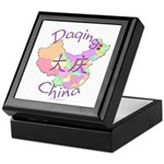 Daqing China Map Keepsake Box